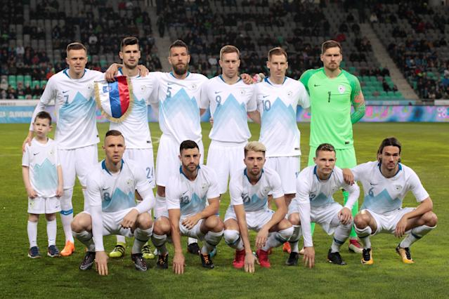 Soccer Football - International Friendly - Slovenia vs Belarus - Stozice Stadium, Ljubljana, Slovenia - March 27, 2018 Slovenia team group before the match REUTERS/Borut Zivulovic