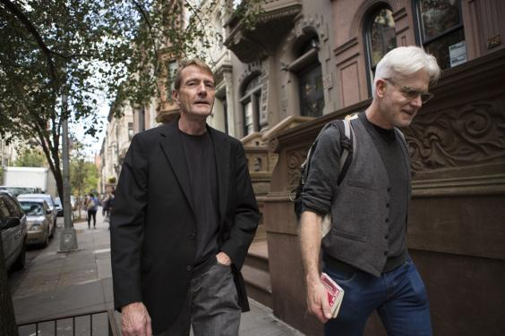 Lee Child and Andy Martin together in New York (Jessica Lehrman)