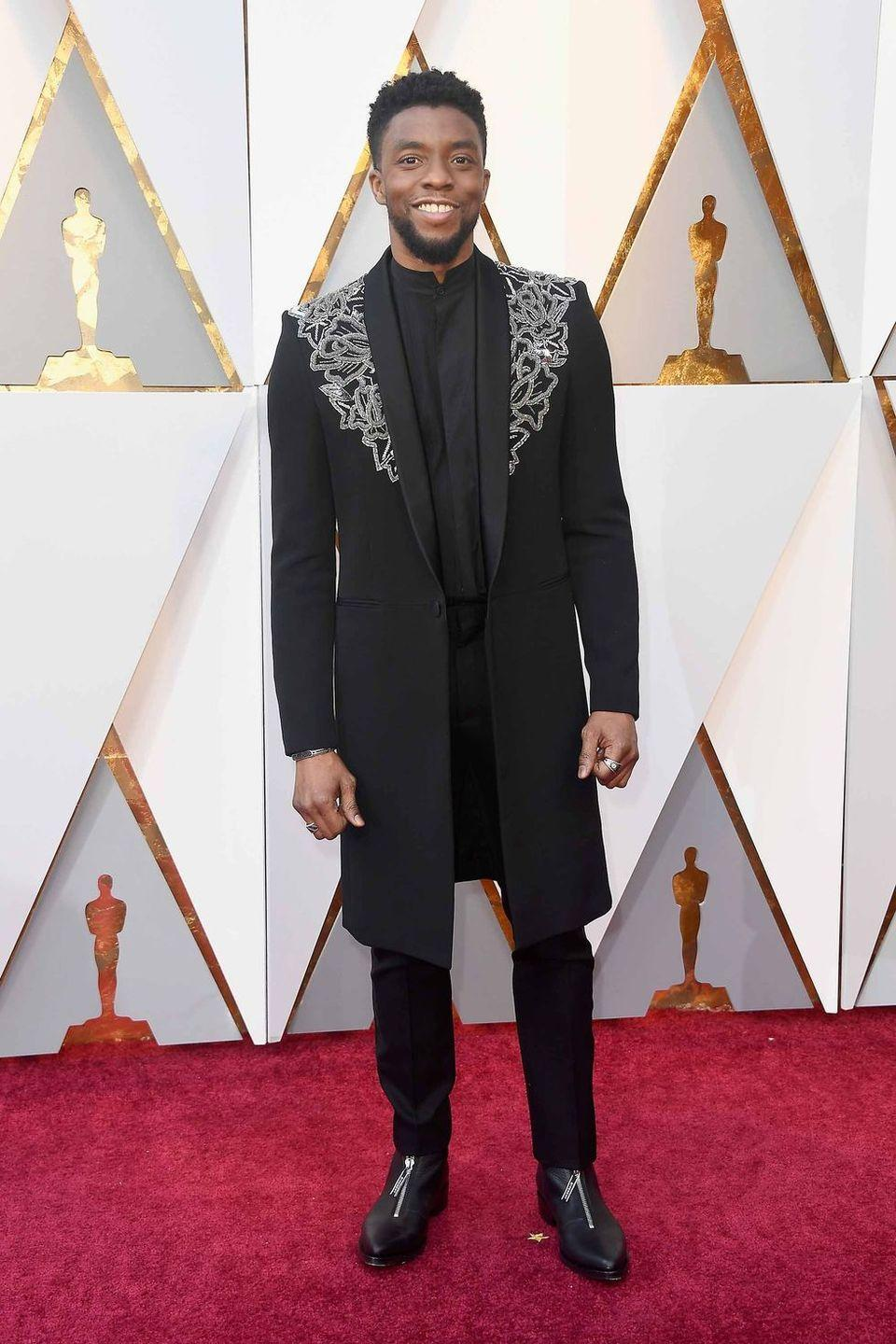 <p>A relative newcomer, Boseman knows exactly how to make the red carpet feel exciting without losing sight of just plain looking great.</p>