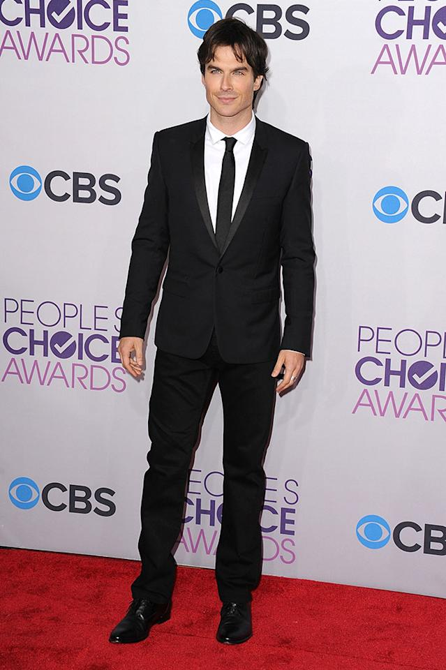 Ian Somerhalder attends the 2013 People's Choice Awards at Nokia Theatre L.A. Live on January 9, 2013 in Los Angeles, California.