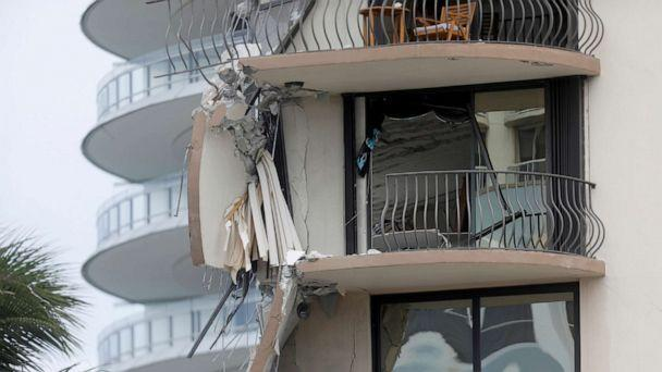 PHOTO: A building that partially collapsed is seen in Surfside, near Miami Beach, Fla., June 24, 2021. (Octavio Jones/Reuters)