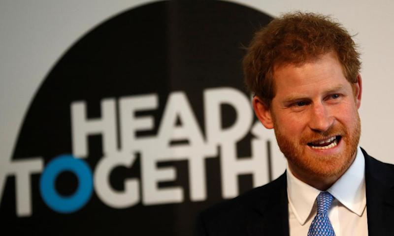 Prince Harry at the launch of the Heads Together mental health campaign, 17 January 2017.