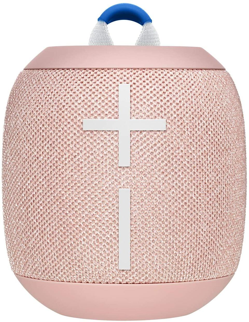 "<h3>Sporty Bluetooth Speaker</h3> <br>Let's not overlook the importance of music to add a home-like ambiance to your day trip. There are countless Bluetooth speakers on the market, but we like the compact and colorful design of Ultimate Ears' Wonderboom. (Good luck deciding among red, blue, gray, or this irresistible millennial pink.) It has a ""boost"" feature for amplifying sound clarity outdoors, 13-hour battery life, and a nifty little hook so you can hang it any old place. Oh, and did we mention it's waterproof — and it <em>floats</em>?<br><br><strong>Ultimate Ears</strong> Wonderboom 2, $, available at <a href=""https://www.amazon.com/dp/B07NFP6D7Q/ref=twister_B07ZPQ2KCS"" rel=""nofollow noopener"" target=""_blank"" data-ylk=""slk:Amazon"" class=""link rapid-noclick-resp"">Amazon</a><br>"