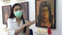 Thai artist paints beloved dead anime characters for mourning fans