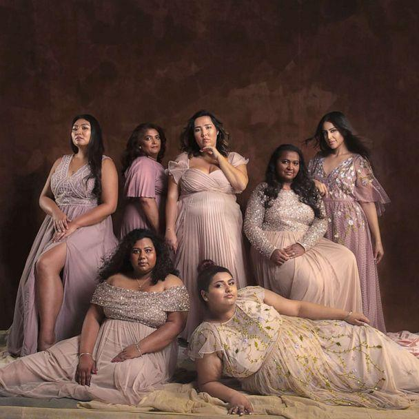 PHOTO: Michelle Elmer and photographer Linda Blacker collaborated for this photoshoot of plus-size Asian women to call for more inclusivity of Asian women in the fashion industry. (Linda Blacker )
