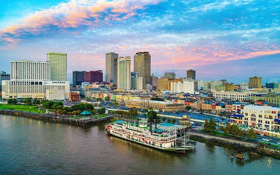 A cruise along the Mississippi offers an opportunity to feast on Southern food, from beignets at breakfast in New Orleans (pictured) through to dry-rub ribs for dinner in Memphis - istock