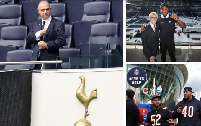 Daniel Levy (left) is pinning his hopes on boxing and NFL to elevate Spurs as a brand - GETTY IMAGES/MATCHROOM