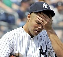Yankees pitcher Javier Vazquez is 1-4 with an 8.10 ERA this season