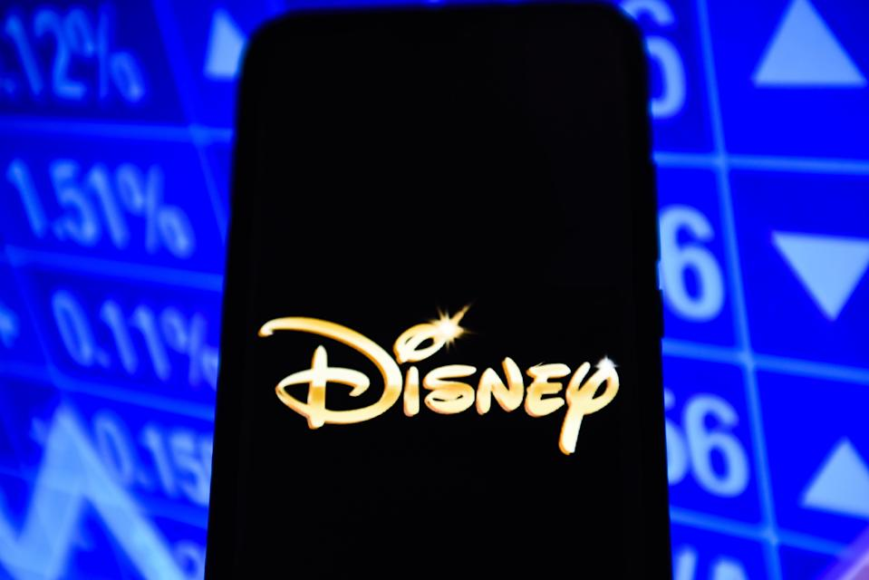 PORTUGAL - 2019/03/06: Disney logo is seen on an android mobile phone. (Photo by Omar Marques/SOPA Images/LightRocket via Getty Images)