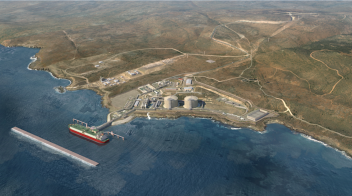 Rendering of the proposed liquefied natural gas expansion at the Energia Costa Azul facility near Ensenada, Mexico. The plant is operated by IEnova, a Mexico-based energy company and a subsidiary of San Diego's Sempra Energy.