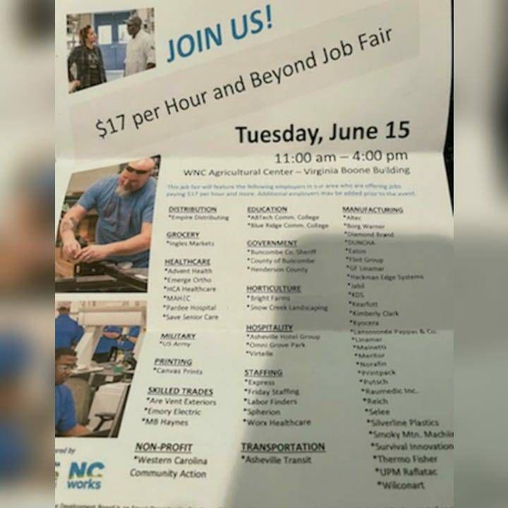 The job fair brochure that No Evil Foods' workers received upon being laid off. (Photo: HuffPost)