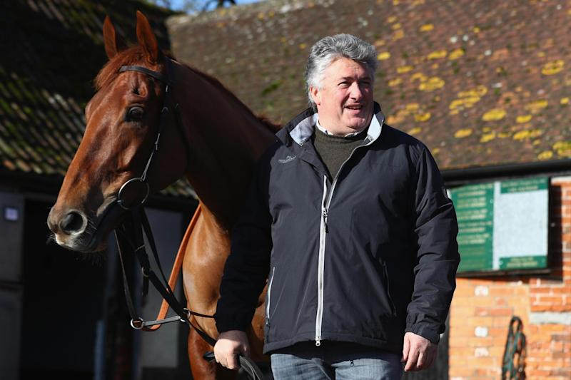 Making his move: Paul Nicholls with rising star Movewiththetimes: Michael Steele/Getty Images