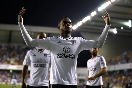 Soccer Football - Championship - Millwall v Fulham - The Den, London, Britain - April 20, 2018 Fulham's Ryan Sessegnon celebrates scoring their first goal Action Images/Matthew Childs