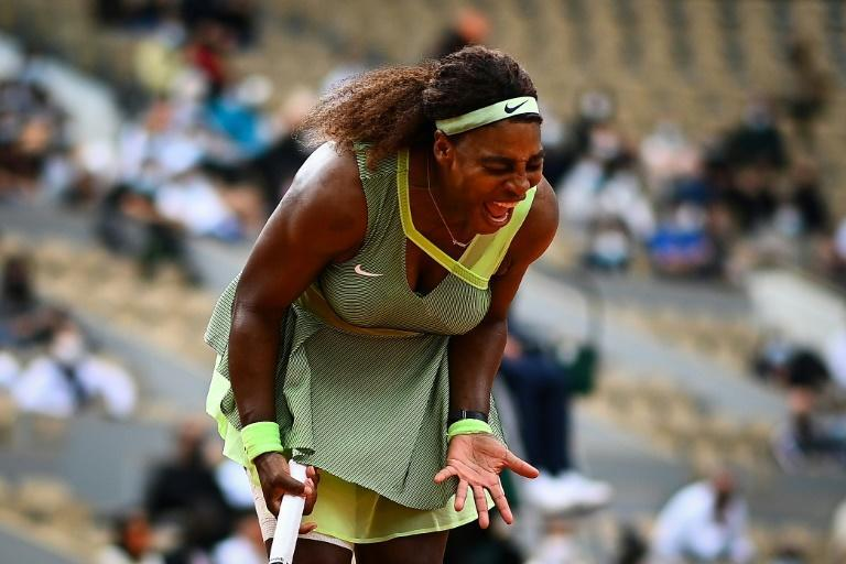 Loud and proud: Serena Williams on her way to victory against Danielle Collins