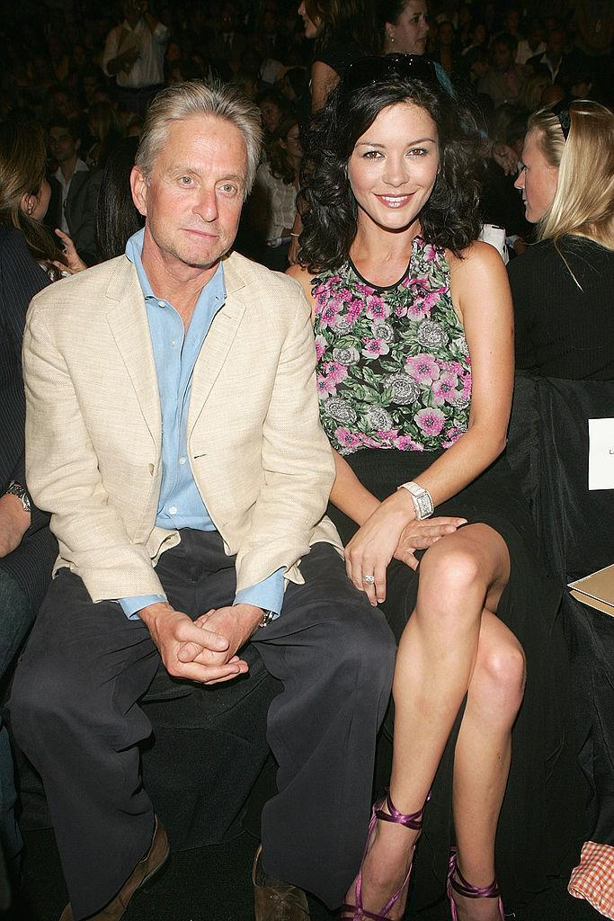 <p>Michael Douglas and Catherine Zeta Jones looking young and fresh. <i>(Peter Kramer/Getty Images)</i></p>
