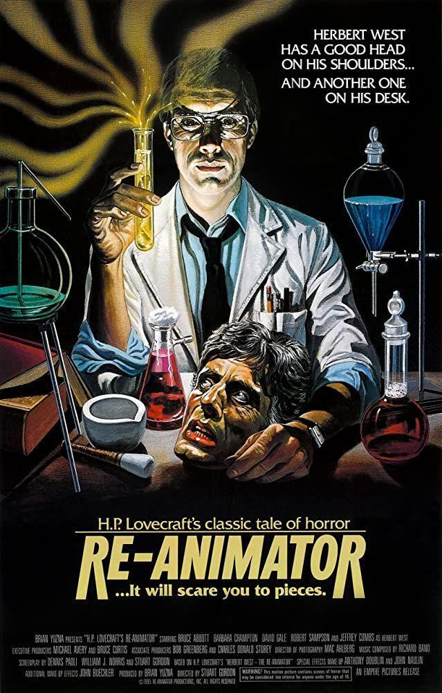 """<p>Horror meets dark comedy in this '80s film, loosely based on the classic horror tale by H.P. Lovecraft, about a medical student who invents a process to re-animate dead bodies. Prepare for a terrifying mix of bloody gore and dark humor! <br></p><p><a class=""""link rapid-noclick-resp"""" href=""""https://www.amazon.com/Re-Animator-Jeffrey-Combs/dp/B0096HJXXI?tag=syn-yahoo-20&ascsubtag=%5Bartid%7C10055.g.33546030%5Bsrc%7Cyahoo-us"""" rel=""""nofollow noopener"""" target=""""_blank"""" data-ylk=""""slk:WATCH ON AMAZON"""">WATCH ON AMAZON</a></p><p><strong>RELATED: </strong><a href=""""https://www.goodhousekeeping.com/holidays/halloween-ideas/g23570139/halloween-movies-netflix/"""" rel=""""nofollow noopener"""" target=""""_blank"""" data-ylk=""""slk:35 Best Halloween Movies on Netflix That Will Give You the Chills"""" class=""""link rapid-noclick-resp"""">35 Best Halloween Movies on Netflix That Will Give You the Chills</a> </p>"""