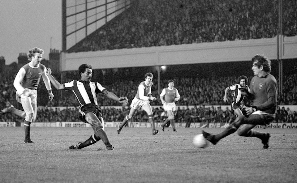 <p>Batson in action for West Brom against Arsenal </p>PA