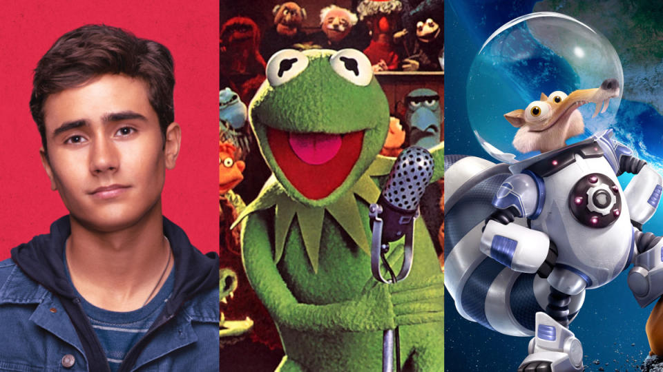 'Love Victor', 'The Muppets Show' and 'Ice Age: Collision Course'. (Credit: Disney+)