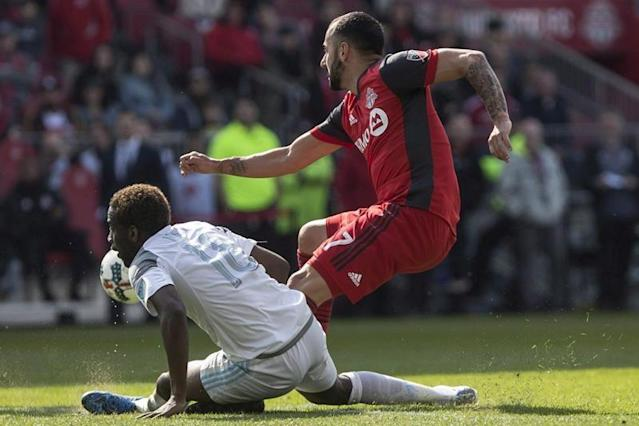 """Toronto FC coach Greg Vanney challenged his team after it suffered its first loss of the season, a 3-2 setback at Seattle last weekend.""""We felt like in the last couple of games we left a few points on the table that we would have liked to have picked up,"""" he said after training Thursday. """"A few plays we would have liked to have made.""""Losing to Seattle is nothing to be ashamed about, given the Sounders (5-0-1) are 20-2-3 in regular-season play since a 3-2 loss to visiting Portland last June. But TFC's 2-2 tie with visiting Chicago on April 6 still smarts, with both goals coming off defensive breakdowns.Scoring goals has not been a problem for Toronto (3-1-1). But Vanney's squad will be looking to shore up its defence Friday when Minnesota United (3-2-1) visits.Drew Moor's health has not helped the Toronto backline with an adductor injury restricting his play. Moor is the vocal conductor of the TFC defence.Chris Mavinga's athleticism, normally his safety net when things start to go south, has not always been the answer this season and newcomer Laurent Ciman has yet to bed in.Add in an injury to Brazilian fullback/winger Auro and Vanney's desire to establish a four-man backline has run into roadblocks. While Auro is expected to return Friday, Moor was training by himself Thursday — not a good sign.The Loons have been road warriors this season, starting with five away games (3-2-0) while waiting for their US$250-million Allianz Field home to open. That came last weekend with Minnesota tying New York City FC 3-3.Both Toronto and Minnesota have scored with regularity this season, tied with Seattle and Sporting Kansas City with 14 goals. Only Los Angeles FC has scored more with 21. Toronto and Minnesota are also tied for the most three-goal games (three each) and stand second in multi-goal games (five).Add to that the history between the two — 12 goals in their two meetings — and scoring would seem on the menu Friday.Toronto ranks 15th in the league in goals conceded, givi"""