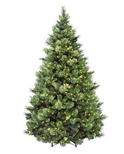 """<p><strong>National Tree Company</strong></p><p>amazon.com</p><p><strong>$324.99</strong></p><p><a href=""""https://www.amazon.com/dp/B003MANSNG?tag=syn-yahoo-20&ascsubtag=%5Bartid%7C2089.g.334%5Bsrc%7Cyahoo-us"""" rel=""""nofollow noopener"""" target=""""_blank"""" data-ylk=""""slk:Shop Now"""" class=""""link rapid-noclick-resp"""">Shop Now</a></p><p>This artificial Christmas tree showcases such stunning mixed foliage, including long-needle pine branches, which give it a much more natural-looking silhouette. </p><p>Studded with pinecones, this tree is prelit with 750 lights, and users love its """"pretty look,"""" though it does require some fluffing to get it to look its fullest.</p>"""