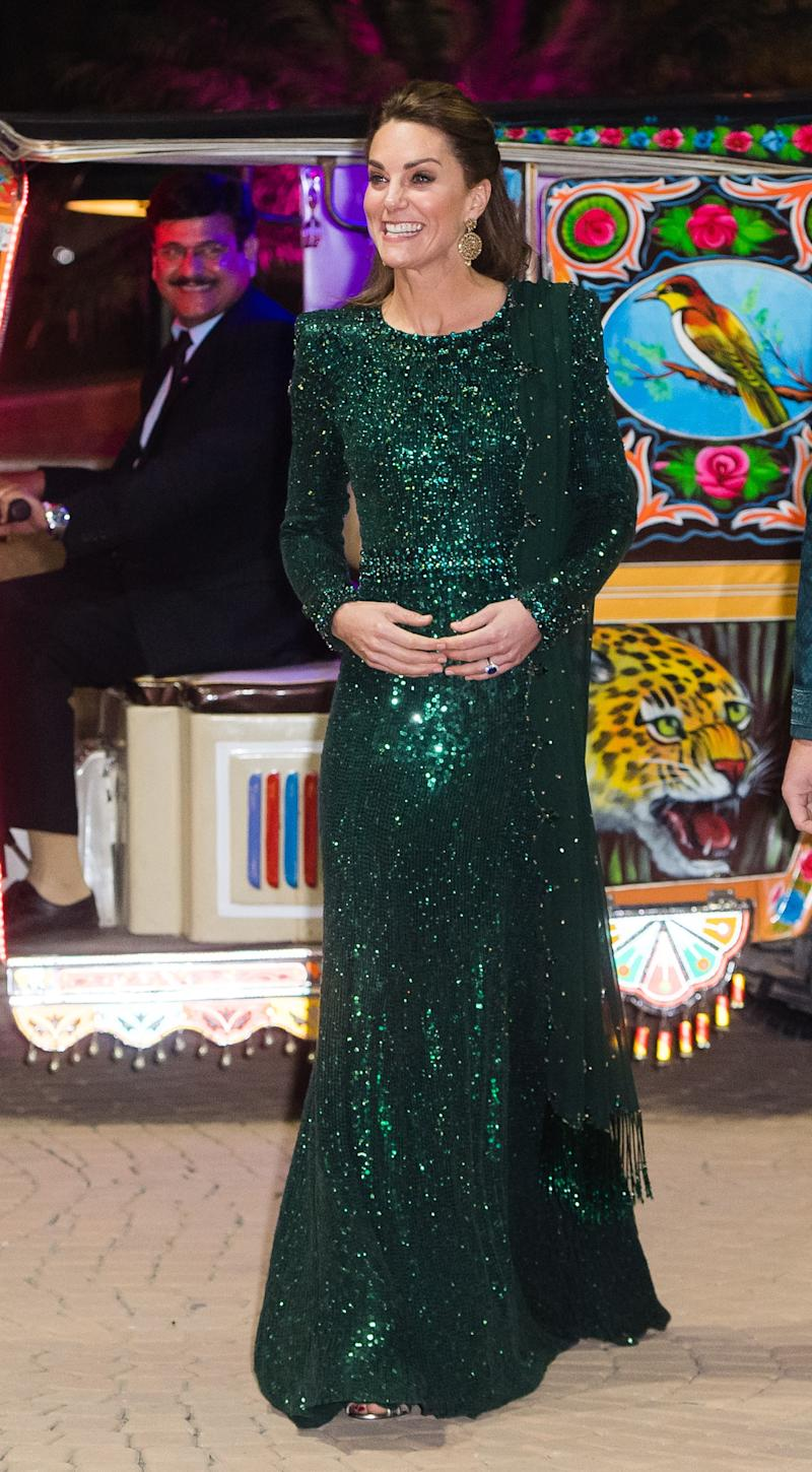 Kate Middleton attends a special reception at the Pakistan National Monument on October 15, 2019 in Islamabad, Pakistan. Photo by Samir Hussein/WireImage.