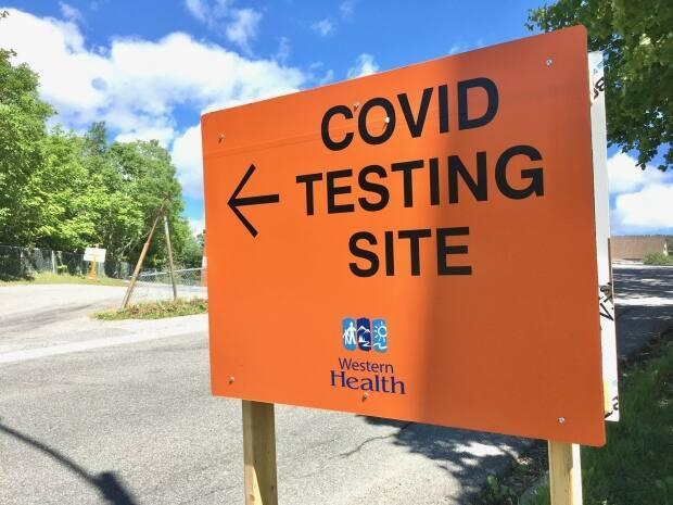 Western Health is asking some people in its jurisdiction to seek testing, even if they do not have symptoms. This is the COVID-19 testing site in Corner Brook, on Montgomerie Street. (Lindsay Bird/CBC - image credit)