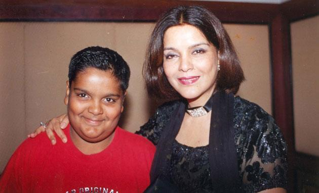 Zeenat Aman has two sons - Azaan and Zahaan