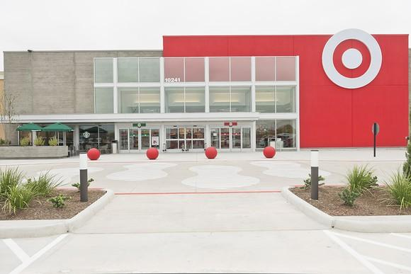 The outside of a Target store.