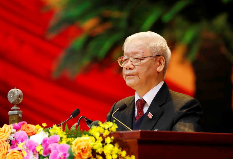 FILE PHOTO: The 13th national congress of the ruling communist party of Vietnam in Hanoi