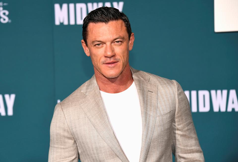 "Cast member Luke Evans attends the premiere of ""Midway"" in Los Angeles, California, U.S. November 5, 2019. REUTERS/Phil McCarten"