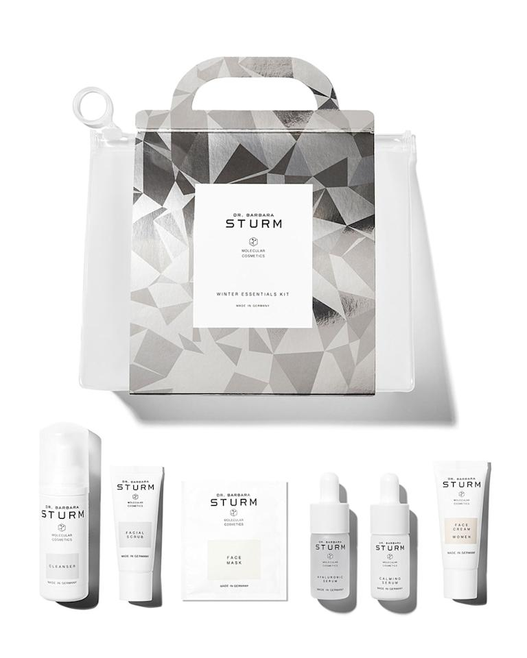 """<p>""""I love anything Barbara Sturm - I'm completely addicted to her products and go months without using anything else. It's an expensive habit! This <a href=""""https://www.popsugar.com/buy/Dr-Barbara-Sturm-Winter-Essentials-Kit-527182?p_name=Dr.%20Barbara%20Sturm%20Winter%20Essentials%20Kit&retailer=neimanmarcus.com&pid=527182&price=215&evar1=fab%3Aus&evar9=46977977&evar98=https%3A%2F%2Fwww.popsugar.com%2Ffashion%2Fphoto-gallery%2F46977977%2Fimage%2F46978133%2FDr-Barbara-Sturm-Winter-Essentials-Kit&list1=shopping%2Cgifts%2Cgift%20guide%2Cluxury%20gifts&prop13=mobile&pdata=1"""" rel=""""nofollow"""" data-shoppable-link=""""1"""" target=""""_blank"""" class=""""ga-track"""" data-ga-category=""""Related"""" data-ga-label=""""https://www.neimanmarcus.com/p/dr-barbara-sturm-winter-essentials-kit-349-value-prod226880155?childItemId=NMC52Q3_&amp;navpath=cat000000_cat000672_cat000674_cat21510737&amp;page=0&amp;position=118&amp;uuid=PDP_PAGINATION_c3a42684fc0562a7331e554f4f590e21_pqPNGaH6Bl_ZW72zKKZlOnxRztH1jCzbuEVJmw2e.jsession"""" data-ga-action=""""In-Line Links"""">Dr. Barbara Sturm Winter Essentials Kit</a> ($215) is a great gift for brand devotees like me and for those just discovering it."""" - Dana Avidan Cohn, executive style director  </p>"""