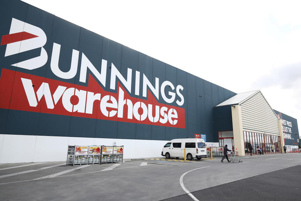 A Bunnings Warehouse store in Melbourne.