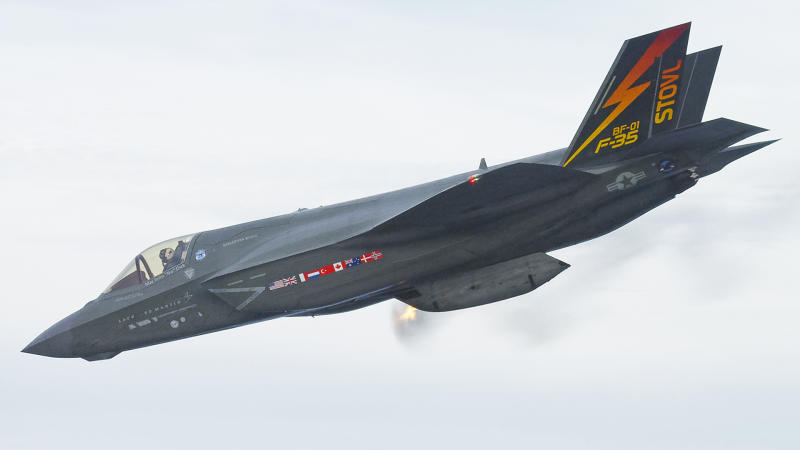 Check Out This Pic of an F-35B Firing its Gun Pod in the Air for the First Time