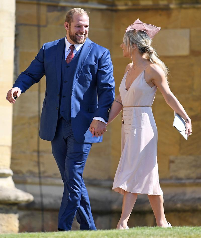 Rugby star James Haskell was next up, alongside his girlfriend Chloe Madeley. Regrettably, her parents, Richard and Judy, appeared not to have made the cut.