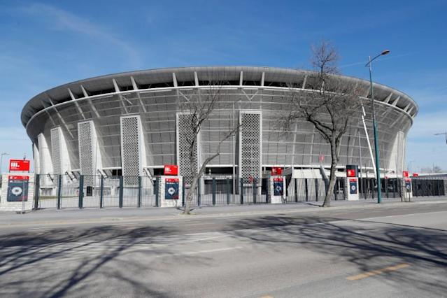 FILE PHOTO: A general view shows the Puskas Arena, one of the venues planned for the Euro 2020 tournament in Budapest