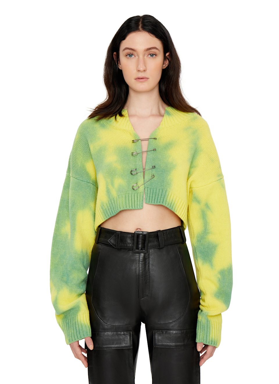 """<br><br><strong>Danielle Guizio</strong> Tie-Dye Knit Safety Pin Sweater, $, available at <a href=""""https://go.skimresources.com/?id=30283X879131&url=https%3A%2F%2Fwww.danielleguiziony.com%2Fwomen%2Ftie-dye-knit-safety-pin-sweater"""" rel=""""nofollow noopener"""" target=""""_blank"""" data-ylk=""""slk:Danielle Guizio"""" class=""""link rapid-noclick-resp"""">Danielle Guizio</a>"""