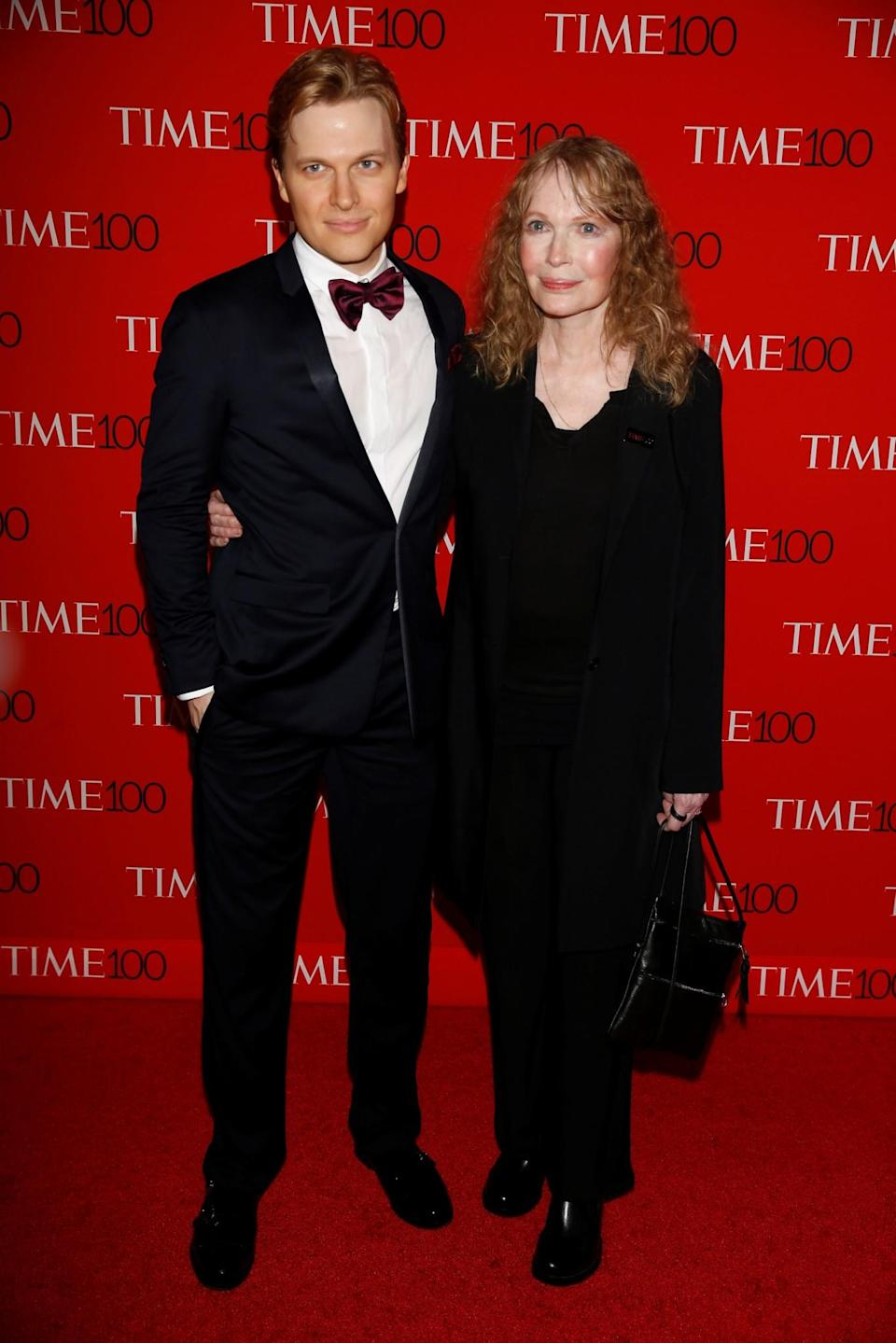 <p>The mother-and-son team were both smartly dressed for the star-studded occasion. (Photo: Reuters) </p>