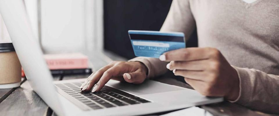 Online shopping using credit card.