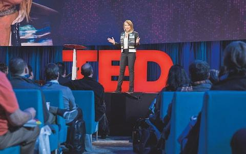 29 million views and counting: Esther performing one of her TED Talks in Vancouver in 2015 - Credit:  Bret Hartman