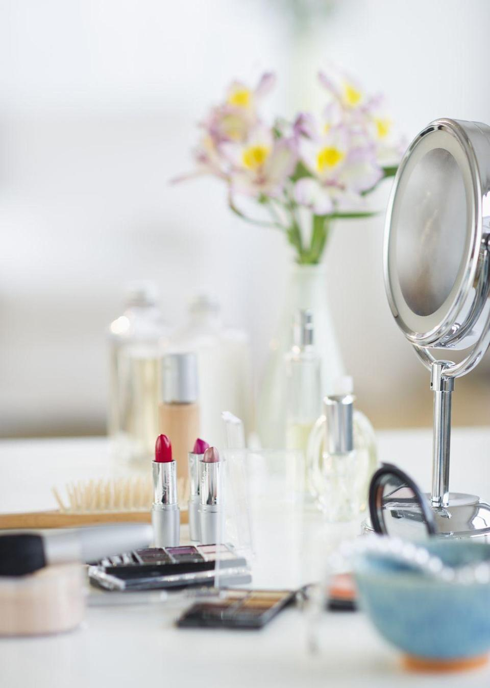 """<p>Again, you might hang on to that ancient mascara because it was expensive, but using old eye makeup can lead to a nasty infection. That's why experts recommend tossing it <a href=""""https://www.goodhousekeeping.com/health/a26167/habits-hurting-eyes/ """" rel=""""nofollow noopener"""" target=""""_blank"""" data-ylk=""""slk:after three months"""" class=""""link rapid-noclick-resp"""">after three months</a>.</p>"""