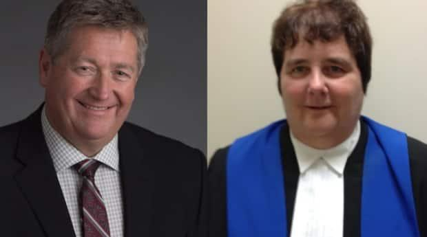 John McLaughlin, retired deputy minister in the Department of Education, and provincial court Judge Yvette Finn, are serving as commissioners in New Brunswick's review of the Official Languages Act. (Government of New Brunswick - image credit)