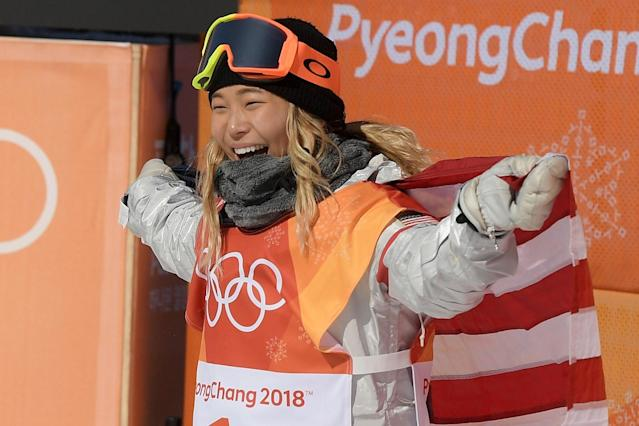 Chloe Kim won gold in the ladies halfpipe.