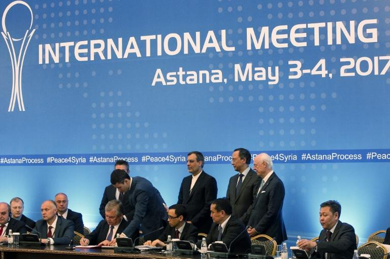 The US was not part of a deal by Syrian government backers Russia and Iran and rebel supporter Turkey, signed in Astana on establishing safe zones in Syria
