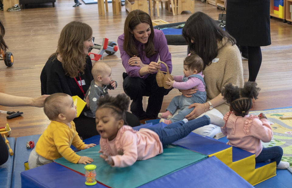 Kate, pictured at a Children's Centre, is focusing on early years intervention [Photo: PA]