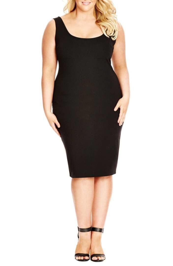 "From <a href=""https://shop.nordstrom.com/s/dress-body-con-basic/4177047?origin=category-personalizedsort&fashioncolor=BLACK"" target=""_blank"">Nordstrom</a>. Comes up to a size XXL."