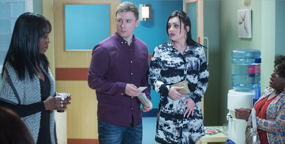 <p>Whitney and Lee have an awkward encounter with Denise at the hospital before they realise that she's pregnant too. Back in the Square, Linda wants Dot to help her knit something for the baby. Linda is shocked by Whitney's reaction to her fussing.</p>