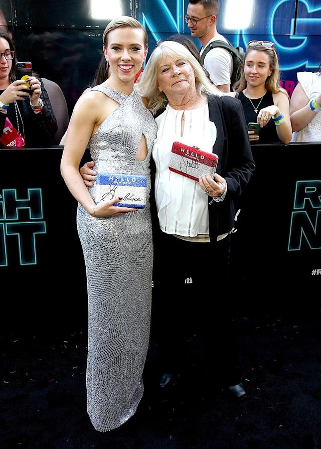 """<p>ScarJo made good on <a href=""""https://www.yahoo.com/celebrity/scarlett-johansson-brought-72-year-old-look-alike-grandma-movie-premiere-just-like-promised-173717362.html"""" data-ylk=""""slk:a promise"""" class=""""link rapid-noclick-resp"""">a promise</a> to take 72-year-old grandmother Geraldine Dodd to the premiere of her new movie, <i>Rough Night</i>, two months after the world discovered on Reddit that, in her younger years, Dodd looked <i>a lot</i>like Johansson. (Photo: Paul Zimmerman/WireImage) </p>"""