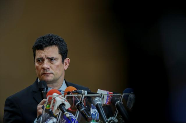 Sergio Moro durante coletiva (Michael Dantas/AFP/Getty Images)