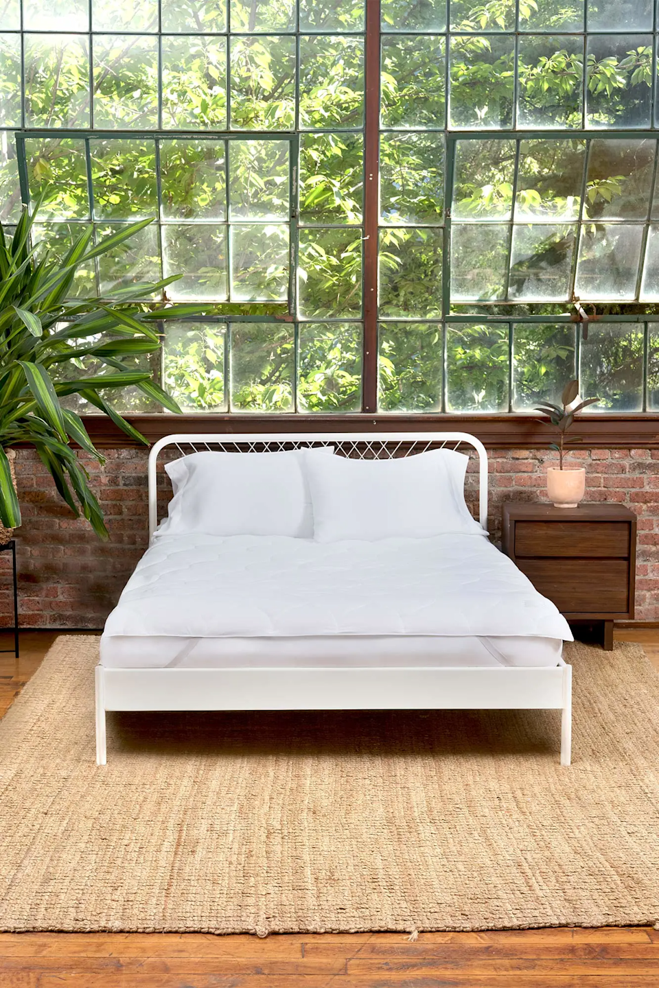 """<h3>Buffy Plushy Mattress Protector</h3><br><strong>Best For:</strong> <strong>A Sweat-Free Sleep</strong><br>Buffy's mattress topper is made of super soft eucalyptus fabric and filled with 100% recycled fibers. Reviewers rave about its breathability, temperature regulating properties, and simple design. <br><br><strong>The Hype: 4.8 out of 5 stars</strong><br><br><strong>Sleepers Say:</strong> """"I love this mattress protector. It is super comfy and I look forward to getting into bed each night. I am never sweaty, it is super breathable. Highly recommend this product. Amazing!"""" <em>– Stacey F., Buffy Reviewer</em><br><br><em>Shop <strong><a href=""""https://buffy.co/"""" rel=""""nofollow noopener"""" target=""""_blank"""" data-ylk=""""slk:Buffy"""" class=""""link rapid-noclick-resp"""">Buffy</a></strong></em><br><br><strong>Buffy</strong> Plushy Mattress Protector, $, available at <a href=""""https://go.skimresources.com/?id=30283X879131&url=https%3A%2F%2Fbuffy.co%2Fproducts%2Fmattress-protector"""" rel=""""nofollow noopener"""" target=""""_blank"""" data-ylk=""""slk:Buffy"""" class=""""link rapid-noclick-resp"""">Buffy</a>"""