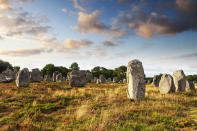 Visit this southern Brittany seaside resort for the prehistoric standing stones, known as Carnac stones. [Photo: Getty]
